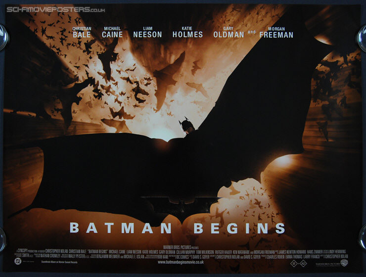 Signed batman movie poster